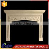 natural yellow marble fireplace travertine mantels for wholesale NTMF-F528X