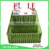 Office promotional colorful paper weaving magazine basket
