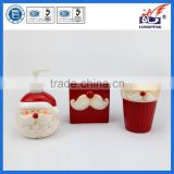 Ceramic Christmas Santa Claus Bathroom Accessory Set Toothbrush Holder Soap Dispenser Set