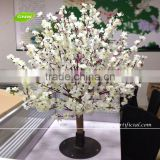 GNW BLS067 Artificial indoor trees white cherry blossom for wedding centerpieces 1m high