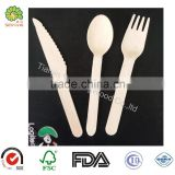 factory directly supply birch wood forks knife spoon