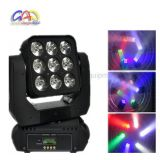 RGBW 4in1 9*12W Matrix LED Moving Head Wash Light