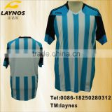 high-quality classic blue and white soccer uniforms