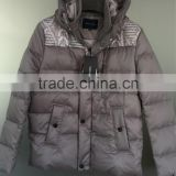 Men's jacket White feather Low price stock clothing branded stock lots buy stock from china
