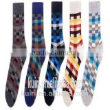 New Fashion Men's White and Black Socks Novelty Stripes Grid Short Sock Winter Autumn Men 100 Cotton In Tubes Socks