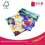 children color carton book printing custom case bound board book with glossy/matt vanish
