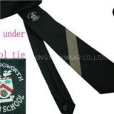 Customized School Boy's Or Girl's Regular Or Elastic Adjustable Or Velcro Necktie With Logo Or Without Logo