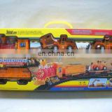 the popular plastic b/o railway train toy