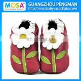 Wholesale 2014 Baby Girl Soft Sole Baby Leather Shoes With Flower Pattern