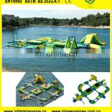 Large sea playground equipment floating island giant inflatable water park