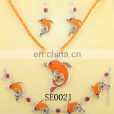Orange fish design vintage wedding jewelry