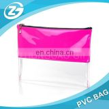 Transparent PVC Waterproof Makeup Bag pvc waterproof zip lock bag