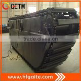 undercarriage of amphibious excavator for 20t excavavtor max arm 13m Doosan driving motor