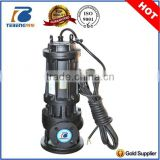 submersible sump drainage pump with control panel