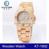 2015 High Quality Luxury Digital Wood Watch japan movt quartz watch stainless steel back