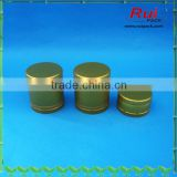 Golden aluminum cap with tamper evident for wine,good quality aluminum ROPP cap wholesale