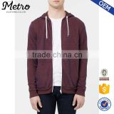 New Style Wholesale Burgundy Spacer Zipper Sweat Hoodies