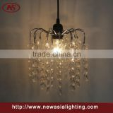 clear circular acrylic cheapest FOB price claw type metal acrylic pendant lamp