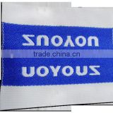 wholesale garment woven label/tag/customized clothing embroidered logo/satin label