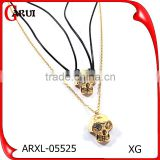 Stainless Steel Necklace Chain Skull Plated Gold skull Necklace