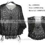 black woman embroidered lace spring pashmina summer bohemian poncho shawl and cape