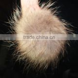 Real Raccoon Fur Ball Key Chain Raccoon Fur Pompons For Hats For Shoes Fur Cap Accessories Ball