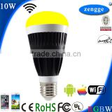 Portable Luminaire Lamp 10w RGBW WiFi Led E27 E26 B22 New Bulb Smart Home Control System iPhone Android Smart App