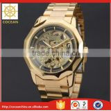 2015 New! Automatic Stainless Steel Winner Golden Silver Watch Men                                                                         Quality Choice