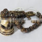 Head Skull carved Bone Pendant Drop Necklace Carved Tribal Jewelry