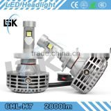 2015 New auto conversion LED kit 2800lm LED chip H7 led headlight in auto lighting system for cars