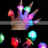 lot Cartoon soft led finger ring toy flash luminous ring toy party props light up toy and kids birthday colorful gift