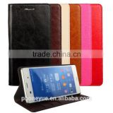 Deluxe Wallet Genuine Cowhide Leather Phone Case for Sony Xperia Z5