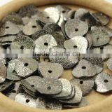 JF8364g Black plated Matte Metal Wavy Disc Spacers Beads,Jewelry Spacers,Gunmetal Curved Disc Beads