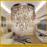 Modern hotel crystal pendant lamp & crystal chandelier lighting with rain drop crystal