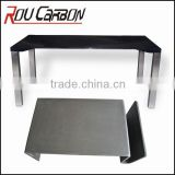 Coffee Table Gracious Dining Table Panel in Carbon Fiber Legs in Aluminum Full Carbon Fiber for both surface