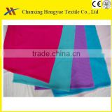 Plain Coloured Polyester bed sheet fabric for winter/Woven Polyester dyed textile fabric for hotel