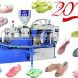 double color rotary pvc jelly sandals making machine