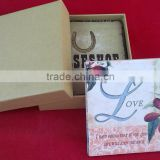 water absorbent sandstone coaster set with gift box ceramic mat