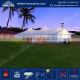 Waterproof, flame redartant, UV-resistant fancy canopy fabric architecture tent fabricated industrial tent structures