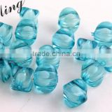 Turquoise Color Chunky Foursquare Acrylic Transparent Clear Plastic Beads in Beads ,8mm to 18mm Beads for Jewelry Decoration