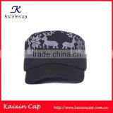 Fashion Custom Cotton Fabric Army Military Style Sports Hat And Cap With Floral Pattern On The Top Factory Wholesale