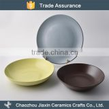 New arrival best elegance ceramic Japanese round plates