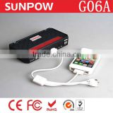 2014 Top Selling Safety Protection Design 12000mah Multi-function Auto Car Jump Starter G06A
