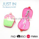 Familiar With OEM Top Gifts Promotion Cute Cupcake Design Mini Gel Manicure Kits, Manicure Pedicure Set
