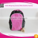 2016 new School Bag for Teenagers Boys Girls Black&Red School Backpacks High Quality