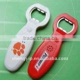 2015 New Design Wholesale Custom Cheap Plastic Wine Talking Beer Bottle Opener