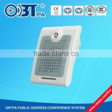 OBT-428 10w 100v Hot Sale ABS Plastic wall mount/fitted box speaker used for schools, office, church
