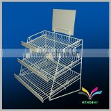 Made in China high quality hot selling cake store shelf durable decorative metal wire bread cooling rack for bakery