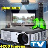 ED Projector HD 1080p Video Home Cinema Theater System 3D Ready 4200 Lumens 1280x800 Native HDMI USB TV VGA AV For School Office                                                                         Quality Choice
