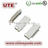 SMT FPC/FFC electronic cable connector 0.5/1.0mm Pitch FPC flat cable Connector (H=2.5mm )